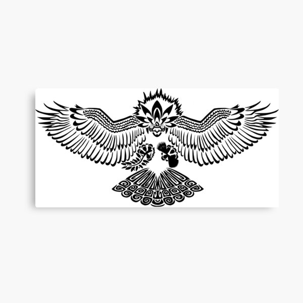 Tribalish Braviary - The All-American Bird Canvas Print