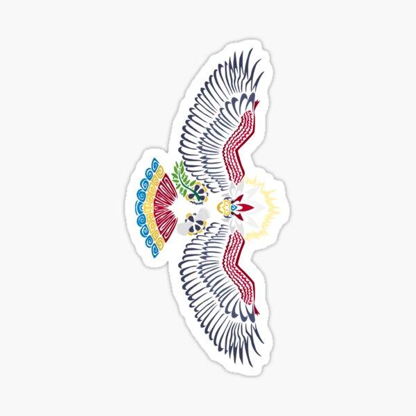 Colored Tribalish Braviary (sticker version) - The All-American Bird Sticker