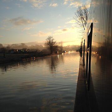 Narrowboat sunset by narrowboatexp