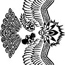 Tribalish Braviary (sticker version) - The All-American Bird by vaguelygenius