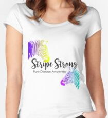 Stripe Strong - Rare Disease Women's Fitted Scoop T-Shirt