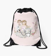 Beautiful Wedding Newlywed Bride Groom Horse Drawstring Bag