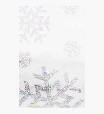 Snowflake Glitter Photographic Print