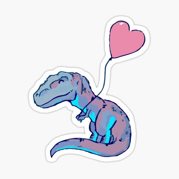 Amo dinosaurios Pegatina