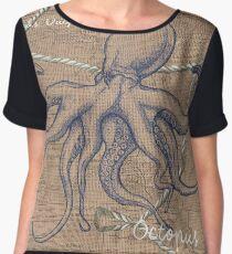 Burlap Shellfish Octopus Chiffon Top