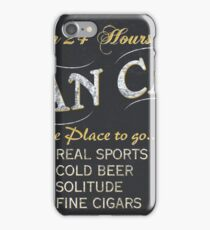 Man Cave Beer Sign iPhone Case/Skin