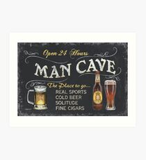 Man Cave Beer Sign Art Print
