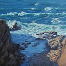 Ebb and Flow Seascape by Karen Ilari