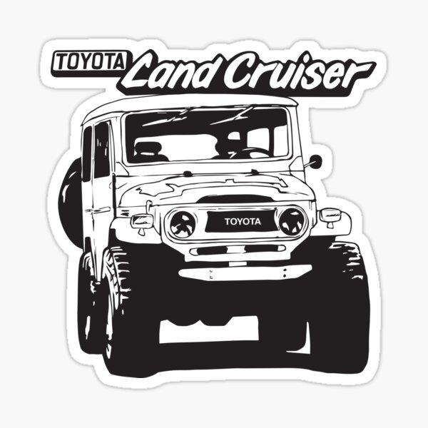 Hand drawn 1974 Toyota FJ40 Landcruiser Sticker