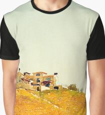 Villa in the Vineyard Watercolor Graphic T-Shirt