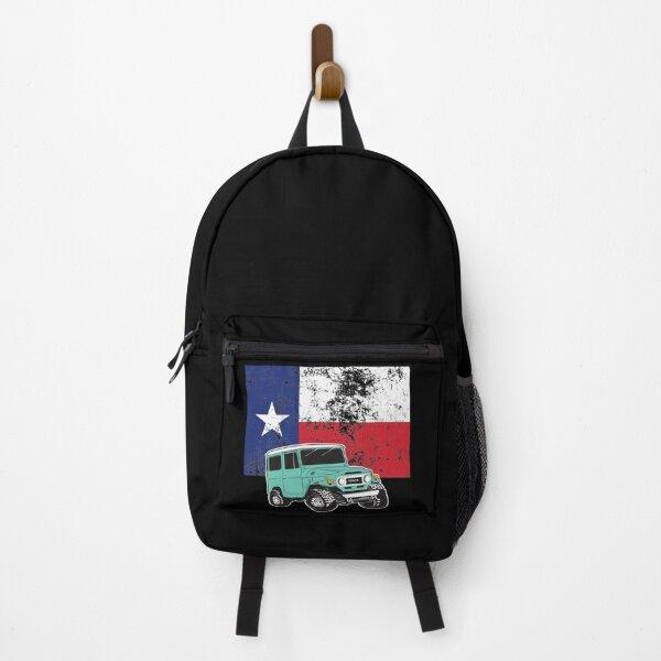 1974 Toyota Landcruiser FJ40 with Texas Flag Backpack