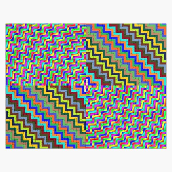 Psychedelic Hypnotic Visual Illusion Jigsaw Puzzle
