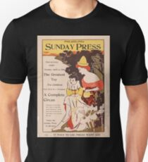 Artist Posters Free to every reader Sunday April 12th 1896 the greatest toy for children ever given by a newspaper a complete circus 0504 T-Shirt