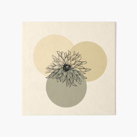Organic Flower - Minimal Abstract Art Board Print