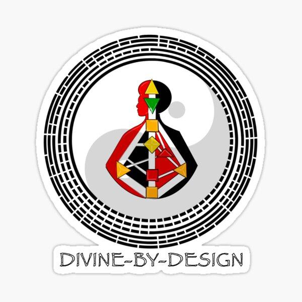 Divine by Design: Yin BodyGraph and Mandala series Sticker