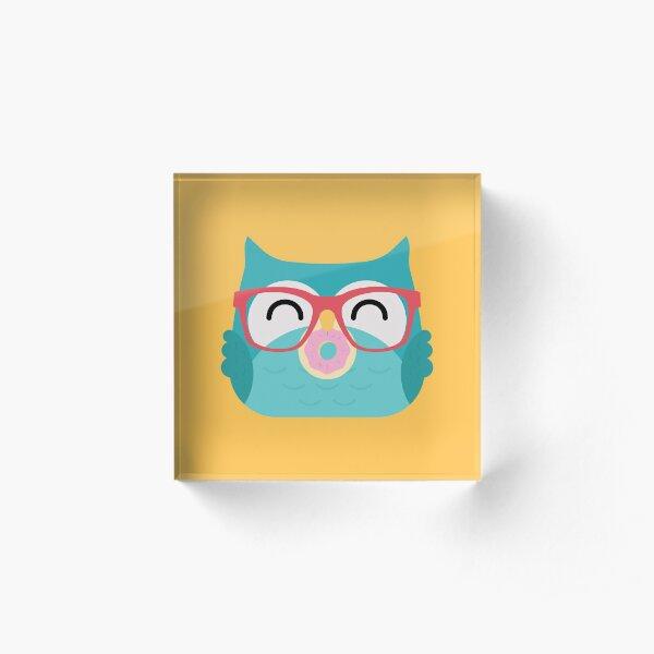 Cute Kawaii Owl Acrylic Block