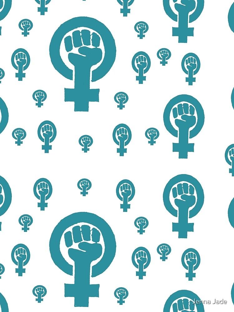 Feminism Light Blue Teal by BetteB