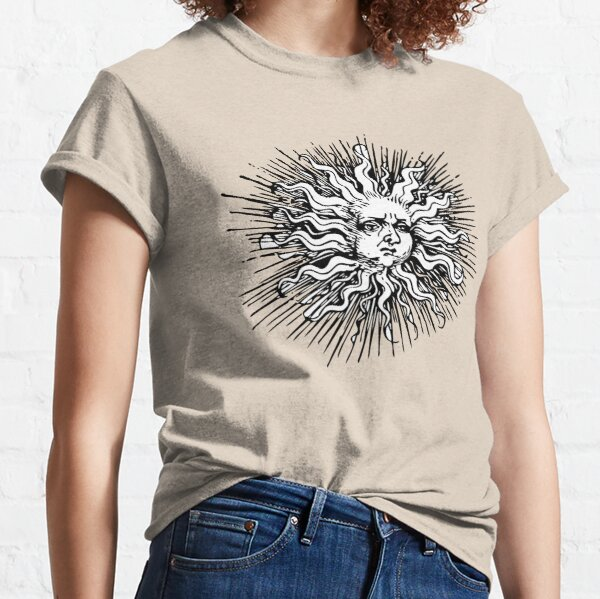 Vintage Sun With a Face Classic T-Shirt