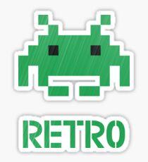 Retro - Invader Textured Sticker