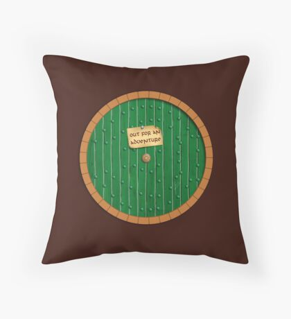 Out for an adventure Throw Pillow