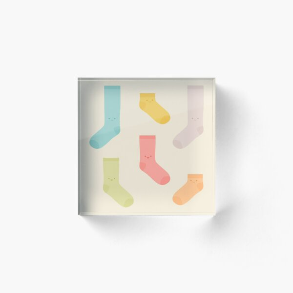 Cute Kawaii Socks Acrylic Block