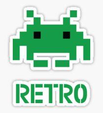 Retro - Invader Sticker