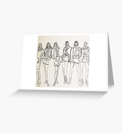 Group Portraits Greeting Card