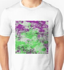 Purple Meets Green - Abstract Painting T-Shirt
