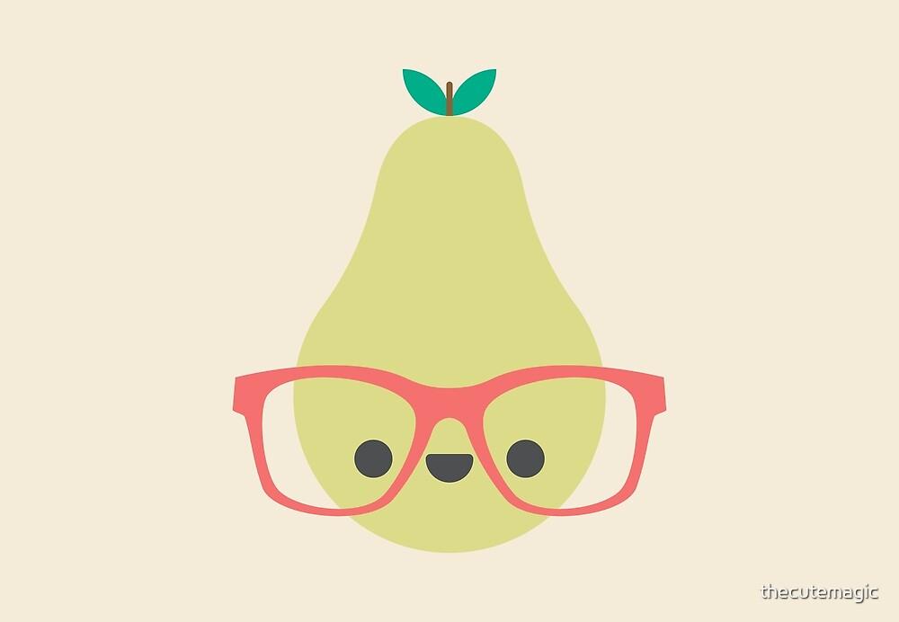 Cute Kawaii Pear by thecutemagic