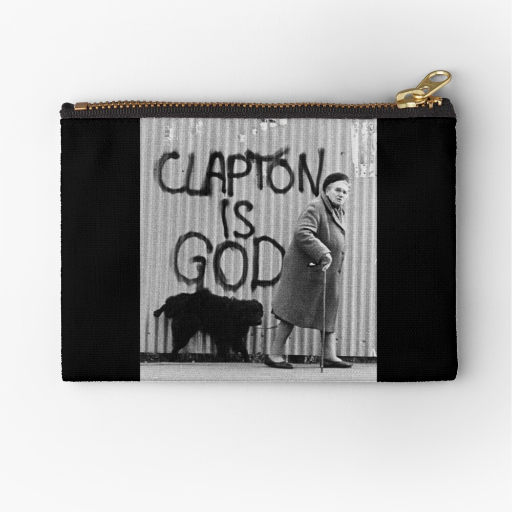 Clapton is God Zipper Pouch