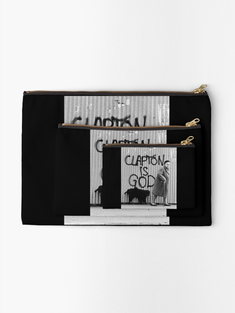 Alternate view of Clapton is God Zipper Pouch
