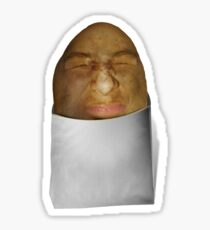 Grimacing Potato Face  Sticker