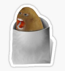 The Bossy Screaming Potato Sticker