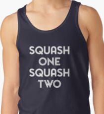 Squash One (white print) Tank Top