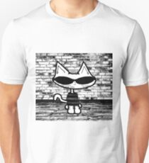 90's Cat In Black and White T-Shirt