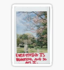 Everything is so beautiful and so am I. Sticker