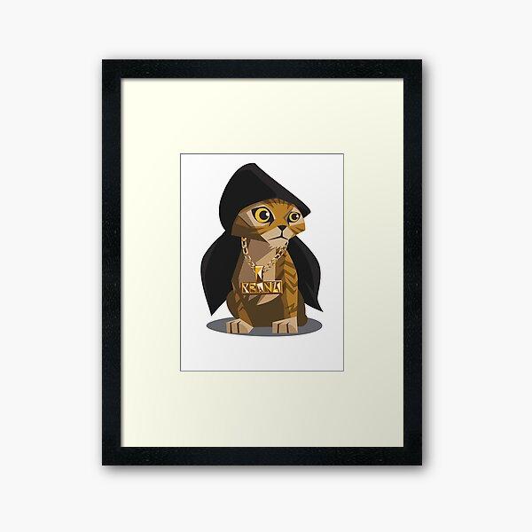Cute Gangster Kitty Framed Art Print
