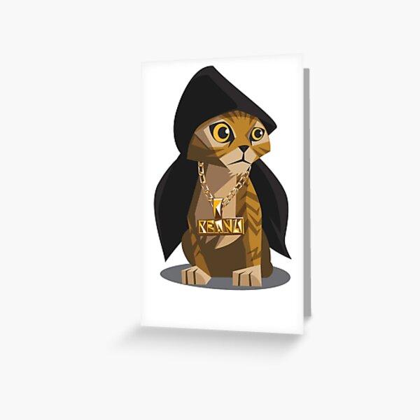 Cute Gangster Kitty Greeting Card