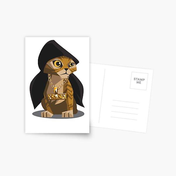 Cute Gangster Kitty Postcard