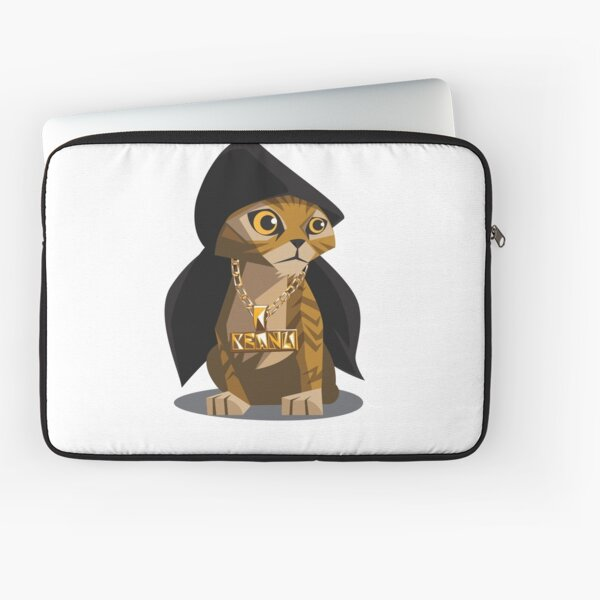 Cute Gangster Kitty Laptop Sleeve