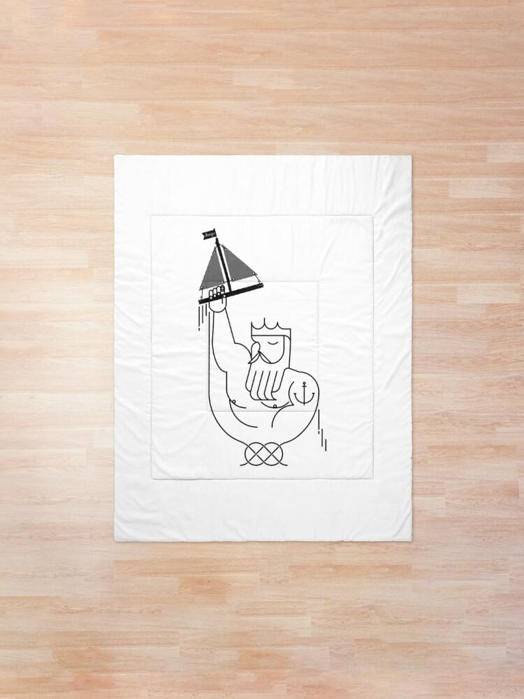Alternate view of Neptune design Comforter