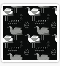 Seagulls and eyes black Sticker