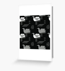 Seagulls and eyes black Greeting Card