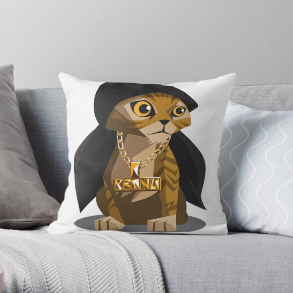 Cute Gangster Kitty Throw Pillow