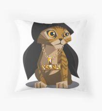 Cute Gangster Kitty Throw Pillow