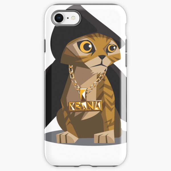 Cute Gangster Kitty iPhone Tough Case