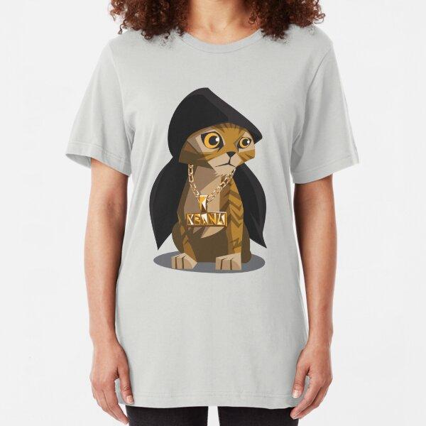 Cute Gangster Kitty Slim Fit T-Shirt