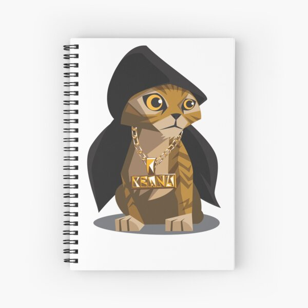 Cute Gangster Kitty Spiral Notebook