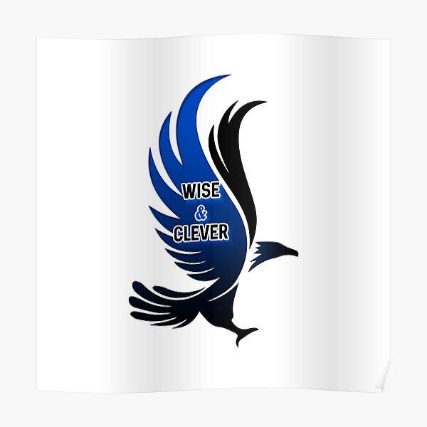 Águila azul sabia e inteligente HARRYPOTTER Póster