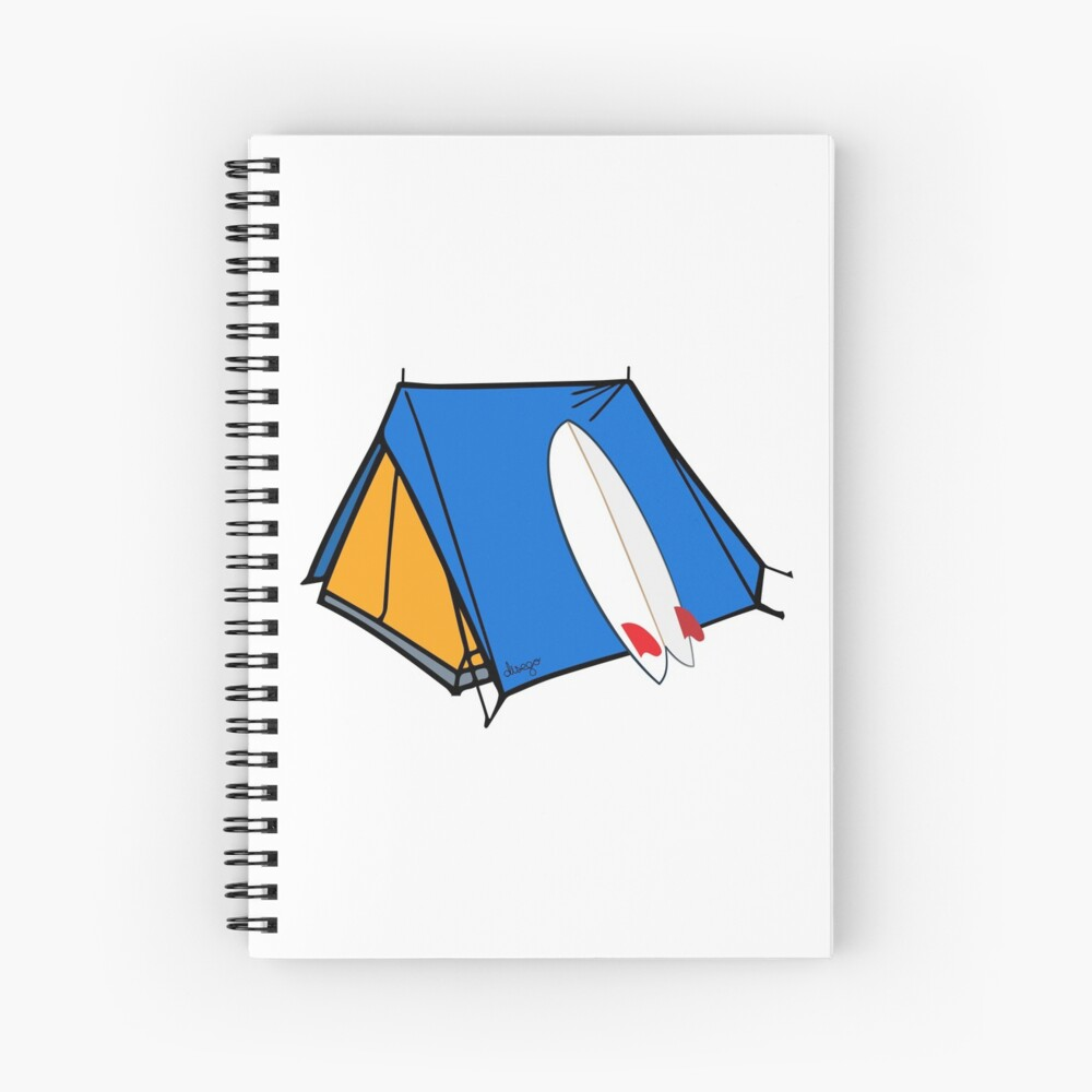 Surfing camp design Spiral Notebook